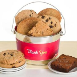 Gluten-Free, Dairy-free, Nut-free cookie and brownie thank you bucket