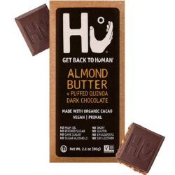 vegan gluten-free almond butter dark chocolate bar hu