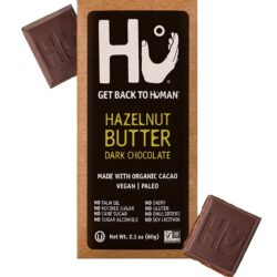 vegan gluten-free hazelnut butter dark chocolate bar Hu