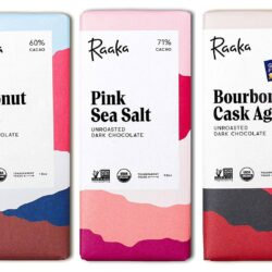 vegan gluten free raaka chocolate bar trio
