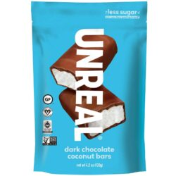 Unreal Dark Chocolate Coconut Bars vegan gluten free