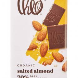 vegan gluten free salted dark chocolate bar theo