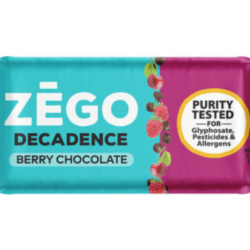 gluten free berry chocolate decadence bar