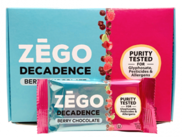 berry chocolate decadence bars gift box of 9 bars gluten free snack