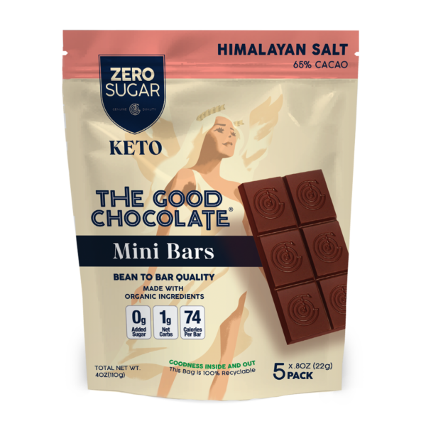 chocolate himalayan salt mini bar 5 pack vegan