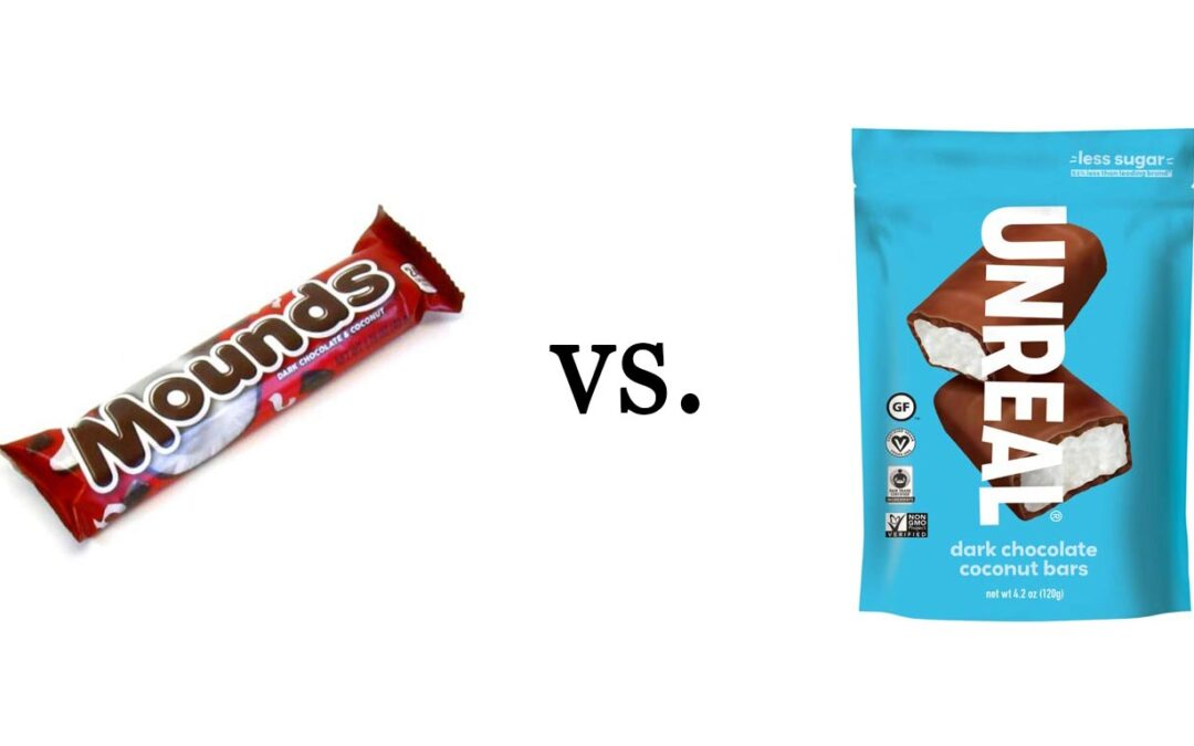 Chocolate Review: Mounds vs. UNREAL Dark Chocolate Coconut Bars